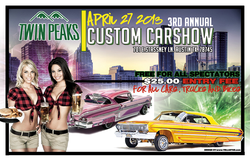 Texas Street Fame Magazine Models Imports Domestics Cars - Twin peaks car show